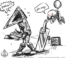 Oh my...Pyramid Head by DaKraken