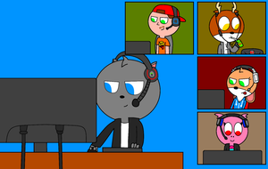 Steve And His PC Gaming Pals by PrinceStickFigure