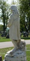 Mount Olivet Cemetery Woman 138 by Falln-Stock