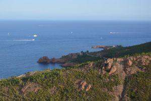 The French Golden Coast from Esterel Massif by A1Z2E3R
