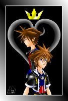 KH and KH2 Sora Comp - Colored by purplelemon