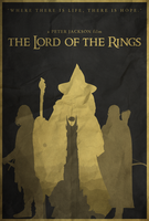 Shadows Shall Spring - Lord of the Rings Poster by edwardjmoran