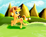 Over Rolling Hills by SeaFoamThePony