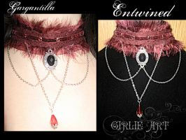 Entwined chocker by Girlie-Art