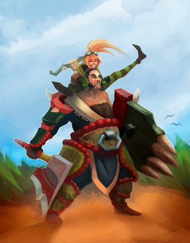 Bakko Hero of Boulder Pass and Lucie The Expelled  by Lodias