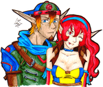Request: Chank and Reiou by AlyssaFoxAH