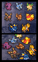 Eevee Evolution Set by Kin-Karo