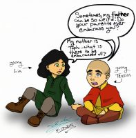 Young Lin and Young Tenzin by WickedGhoul
