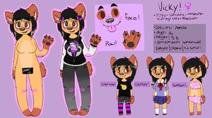 vicky reference (not drawn by me) by glitchypanda