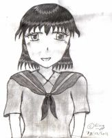 Layla Dome Black and White drawing by TintjeMadelintje101