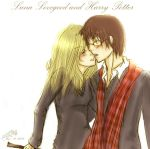 Luna Lovegood and Harry Potter by silverstr