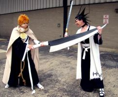 ACEN 09: Ichigo vs Kenpachi by red-cluster