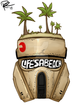 Commission - Life's a Beach Shoretrooper by Exekiella
