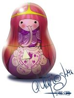 Adventure time. Bubblegum's matrioshka by WarNick