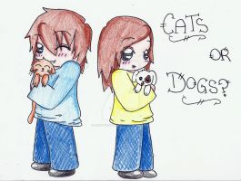 Cats or dogs? by derpykittykat