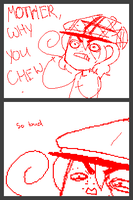 My Mom's chewing. Omgosh. by Faceless-Tsundere