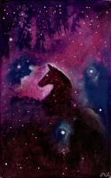Horsehead Breathes Redux by JillianLambertArt