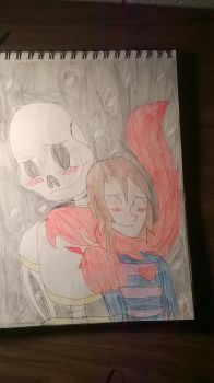 Share The Warmth (Papyrus X Frisk) by PsychoScoutAndMedic