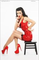 Jade Vixen DSC 7354 red dress tumblrweb by jlrimages