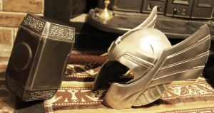 Thor helm and hammer Finished 7 by NMTcreations