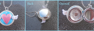 Magical Girl Compact Locket Necklace by Monkiki62