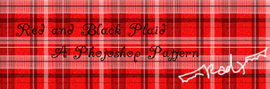 Red and Black Plaid by xgealicdraganx