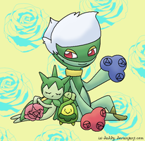Roselia Roserade Budew by Isi-Daddy