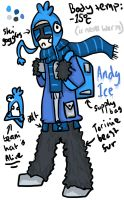 RandomVeus Character design contest ~ Andy Ice by IamGinger
