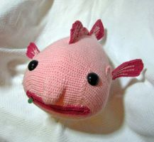 Giant Amigurumi Blobfish by Dragonrose36