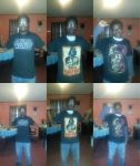Me in my STAR WARS Shirts! by GreenMint4265