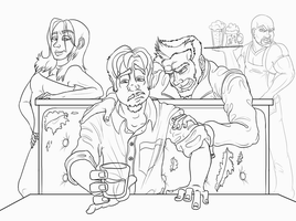 A Night at McGrudgly's WIP by JRTribe