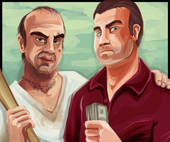 Trevor and Michael GTA 5 -Personal- by MysticSabreonic