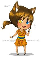 Chibi Kat -colored by Roots-Love