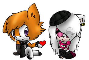 .::PC::. Chibi DominiekXAvril by Knuckles119