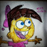 Napkin Art 103 - The kid with Fairly OddParents by PeterParkerPA