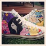 Adventure Time Custom Converse by VeryBadThing