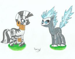 Zecora and Deathflame by UlyssesGrant