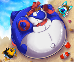 Beached Yoshi by ChrisElFox