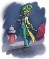 Nitrine in the rain by falingard
