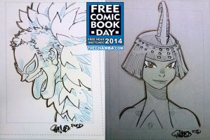 FCBD 2014 Sketches  15 - 16 by theCHAMBA