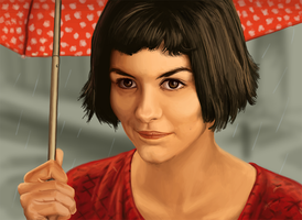 Amelie (Audrey Tautou) by shezzor