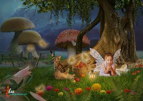 Fairy Tales_Lonely Fairy - dheean by dheean