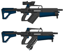 RF-75 Assault rifle and RF-74 SMG by GunFreakFin