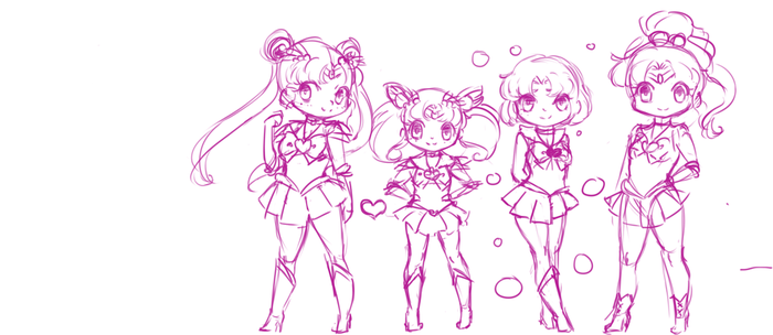 Senshi Chibis by Otakucouture