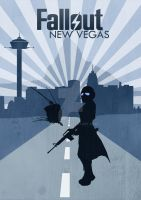 New Vegas Poster by CWcanine