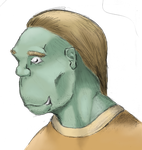 orc drawing colored by panzi