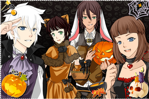 Happy Halloween form the Frost Family and.. Bunny. by RiseJackFrost