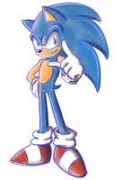 Sonic Doodle by ShadowReaper12