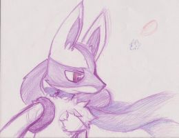 Lucario pose by Jaypoquiz