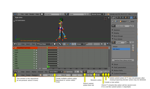 Multiple animations in the same file (Blender Tut) by eelstork